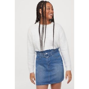 Denim Paper bag Skirt